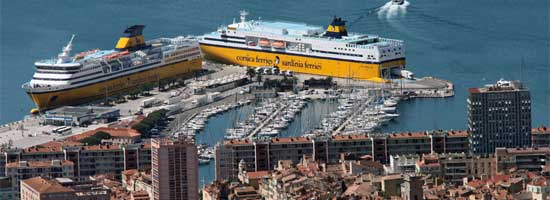 Renseignements gps carte itin raires port de toulon - Port toulon corsica ferries ...